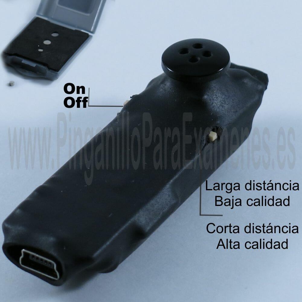 Camara botón HD para exámenes Wifi Ip P2p con pinganillo