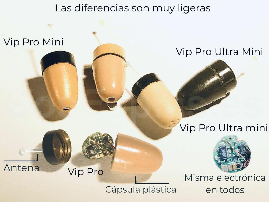 Pinganillo Vip Pro Comparación
