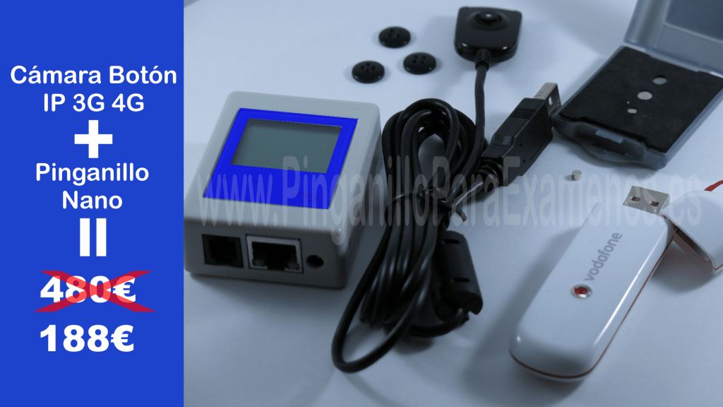 Pinganillo con Cámara botón servidor IP internet móvil 3g 4g